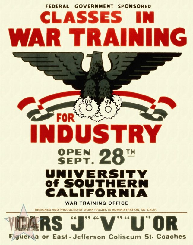 Classes in War Training for Industry - Restored