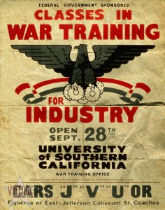 Classes in War Training for Industry - Folded