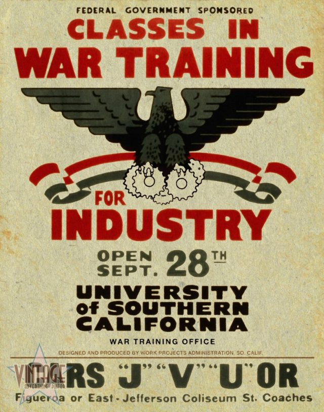 Classes in War Training for Industry - Vintagelized