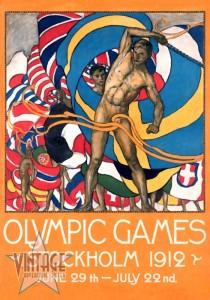 Olympics Games Stockholm 1912 - Restored Vintage Poster