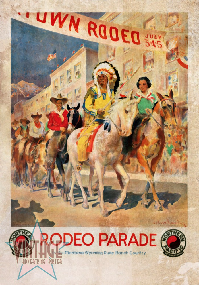 Rodeo Parade Restored Vintage Poster