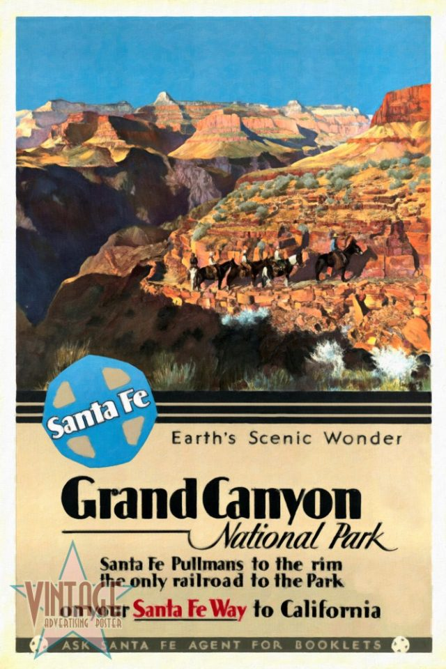 Santa Fe Train to Grand Canyon- Restored