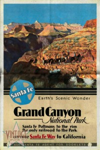 Santa Fe Train to Grand Canyon- Folded