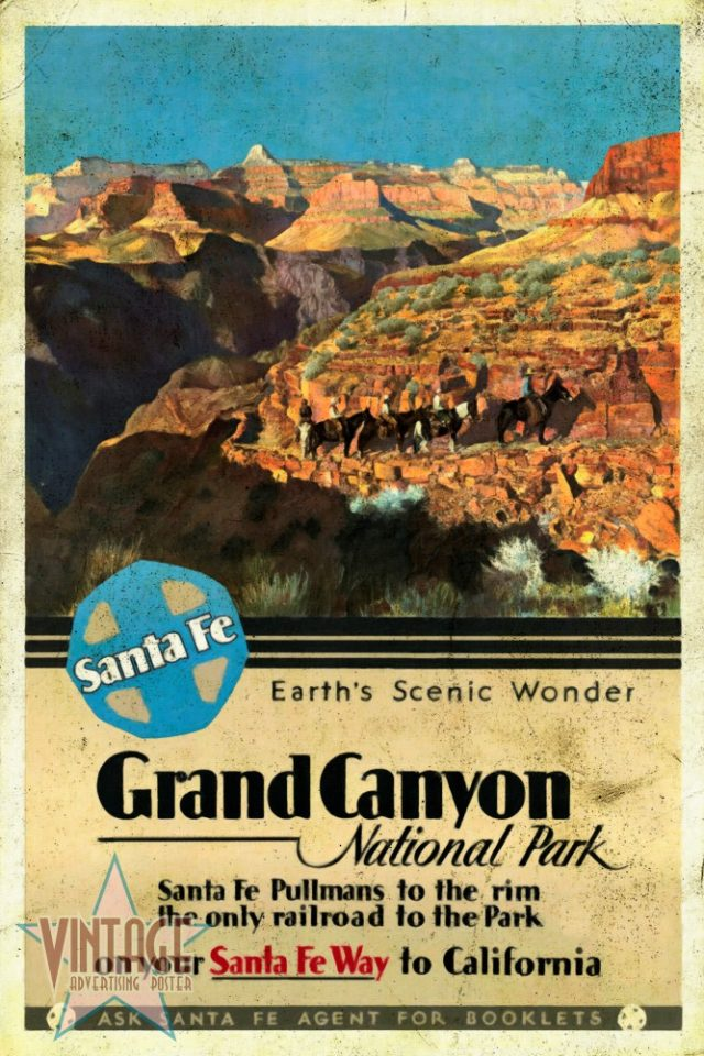 Santa Fe Train to Grand Canyon- Vintagelized