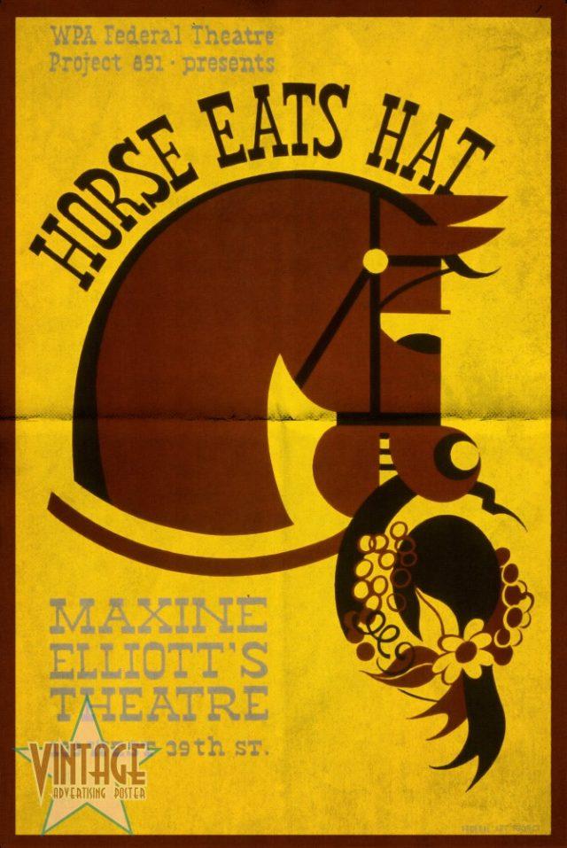 Horse Eats Hat - Maxine Elliot's Theatre - Folded