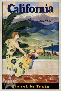 California This Summer - Travel by Train - Vintagelized