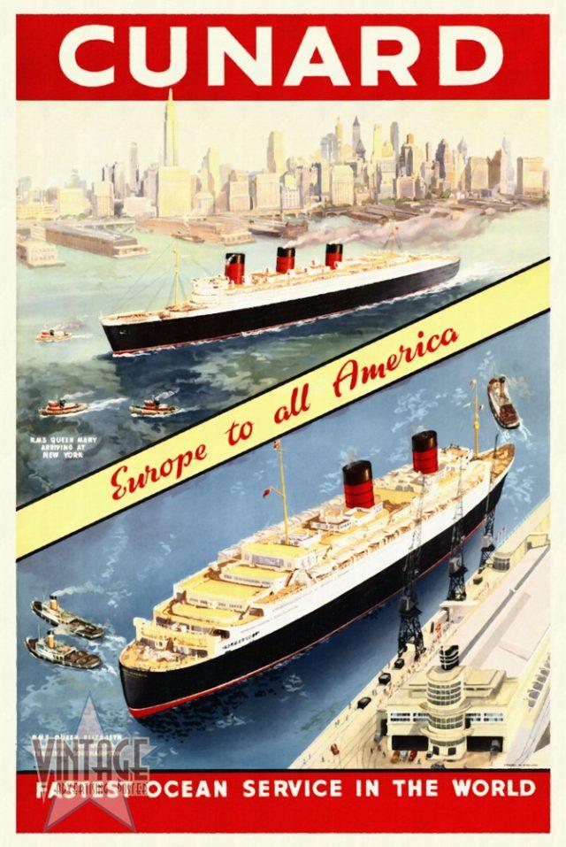 Cunard - Europe to all America - Restored