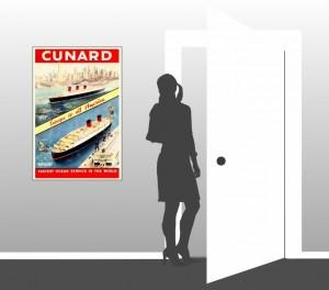Cunard - Europe to all America - Scale