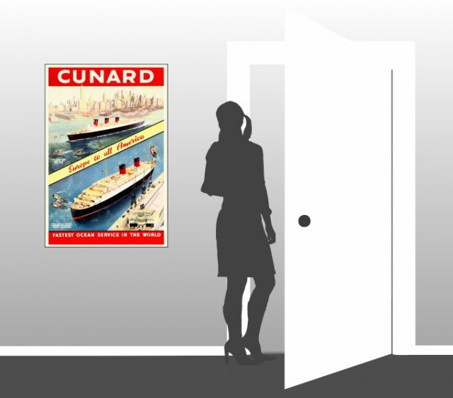 Cunard - Europe to all America - Scale