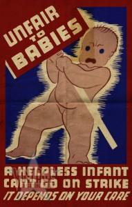 Unfair to Babies - Vintage Poster - Folded