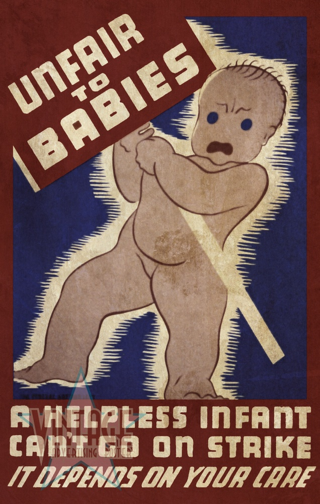 Unfair to Babies - Vintage Poster - Vintagelized