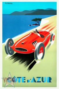 Riviera - Cote d'Azur - Vintage Poster - Restored
