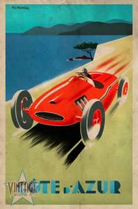 Riviera - Cote d'Azur - Vintage Poster - Vintagelized