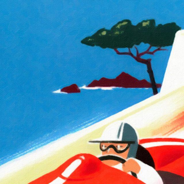 Riviera - Cote d'Azur - Vintage Poster - Texture