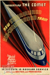 The Comet New Haven Train - Vintage Poster - Vintagelized