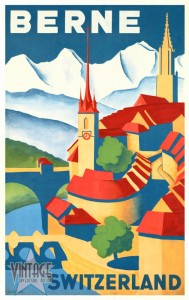 Berne Switzerland - Vintage Poster - Restored