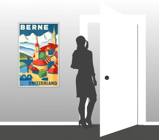 Berne Switzerland - Vintage Poster - Scale