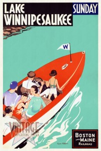 Lake Winnipesaukee - Vintage Poster - Restored