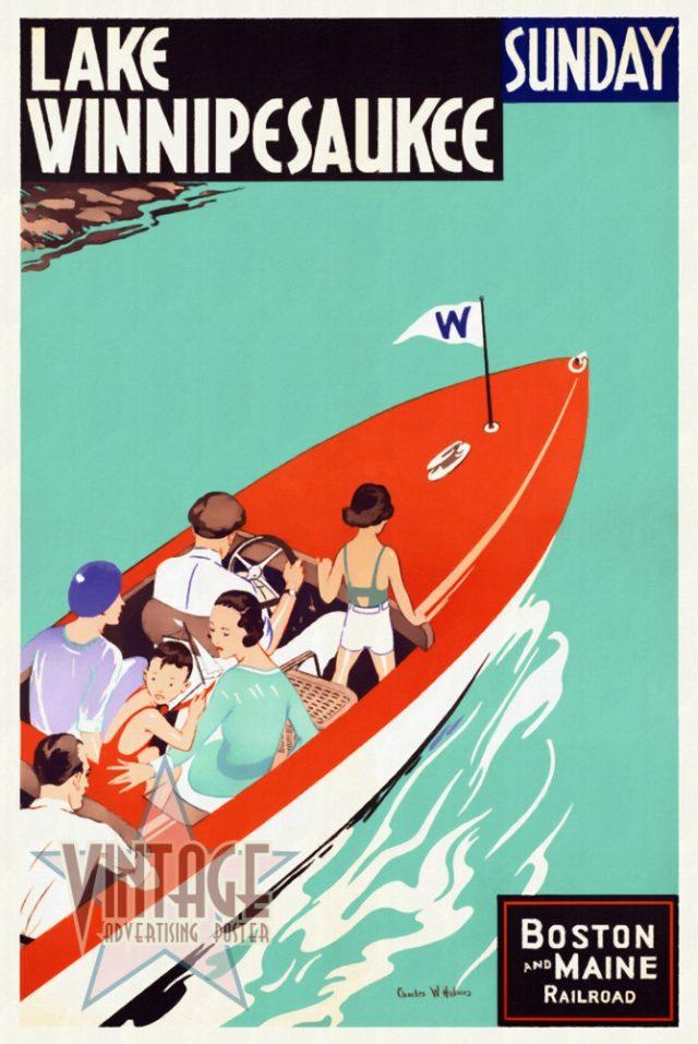 Lake Winnipesaukee - Vintage Poster - Restored