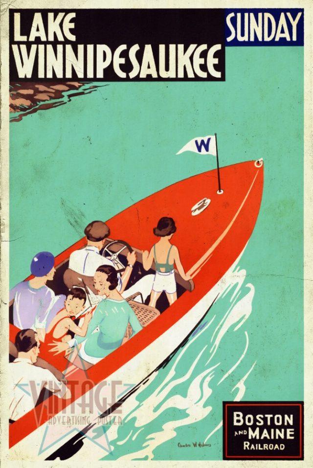 Lake Winnipesaukee - Vintage Poster - Vintagelized