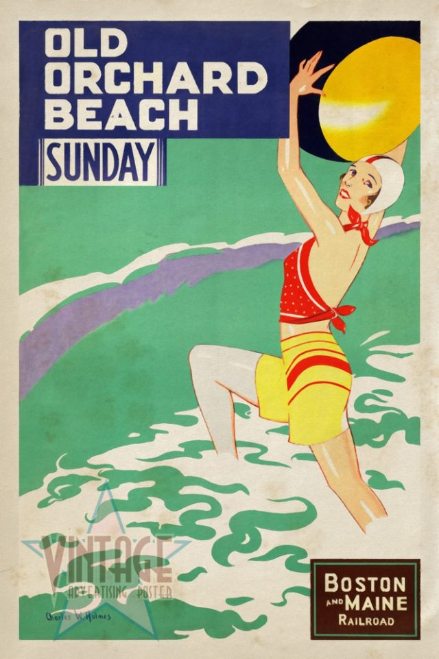 Old Orchard Beach - Vintage Poster - Vintagelized
