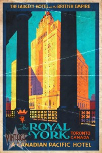 The Royal York Hotel - Vintage Poster - Folded