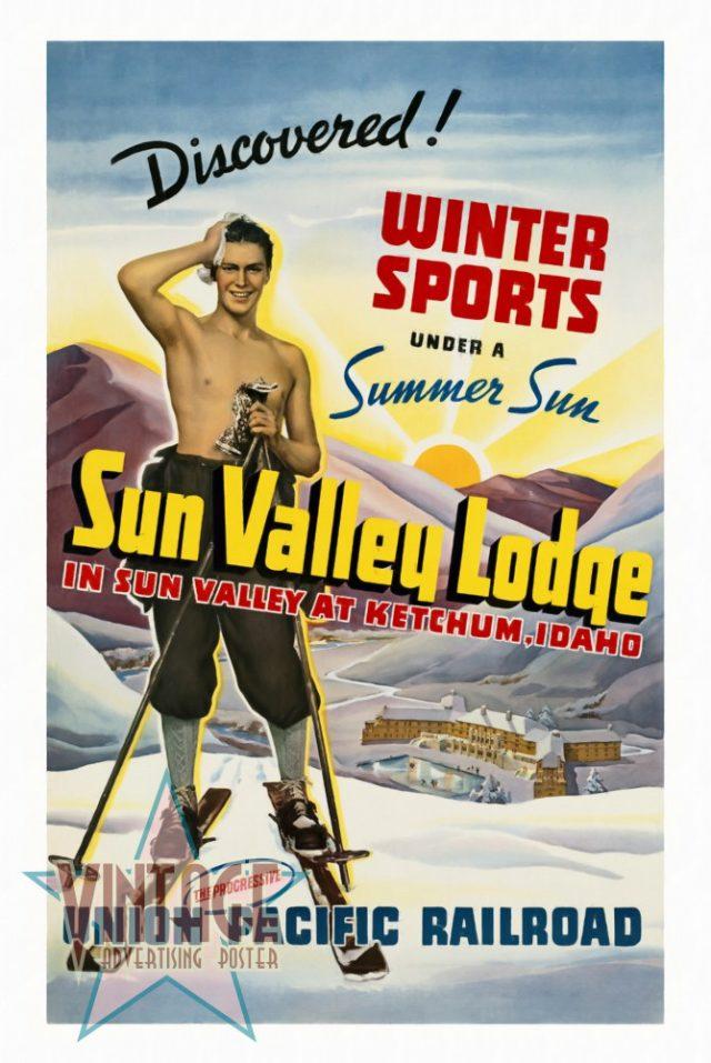 Sun Valley Lodge - Vintage Poster - Restored