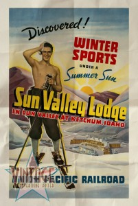 Sun Valley Lodge - Vintage Poster - Folded