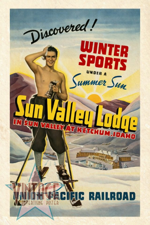 Sun Valley Lodge - Vintage Poster - Vintagelized