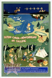 Eastern Canada and Newfoundland - Vintage Poster - Restored
