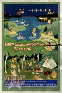 Eastern Canada and Newfoundland - Vintage Poster - Folded