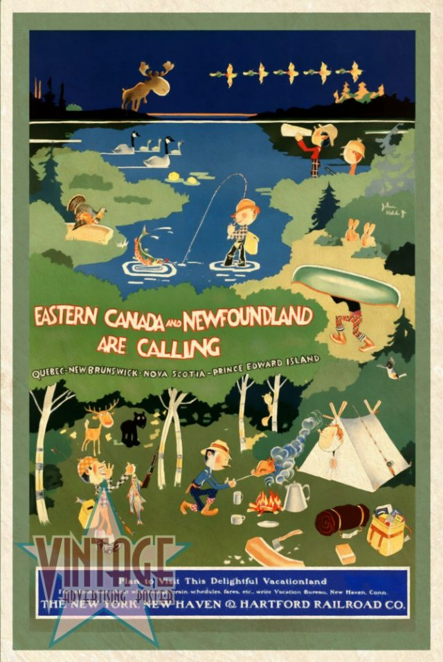 Eastern Canada and Newfoundland - Vintage Poster - Vintagelized