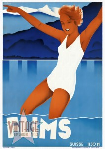 Flims - Switzerland - Vintage Poster - Restored