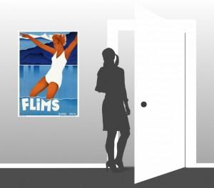 Flims - Switzerland - Vintage Poster - Scale