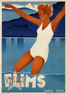 Flims - Switzerland - Vintage Poster - Vintagelized