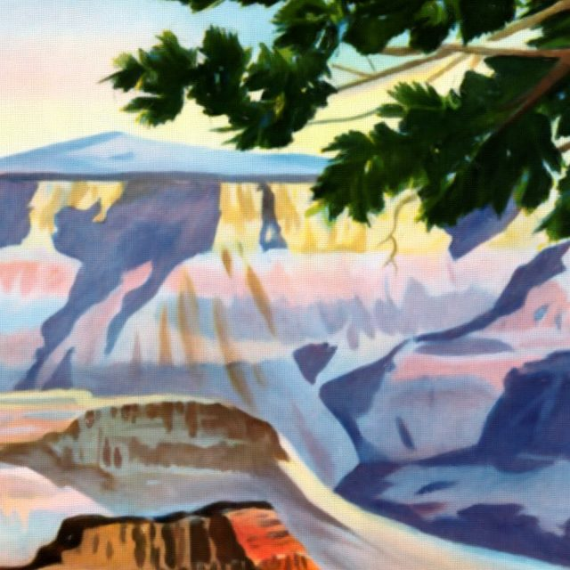 Visit Grand Canyon - Vintage Poster - Detail