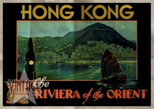 Hong Kong The Riviera of the Orient - Vintage Poster - Folded