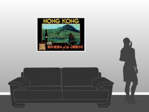 Hong Kong The Riviera of the Orient - Vintage Poster - Scale