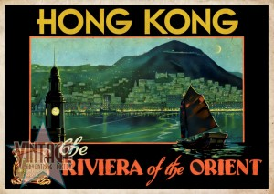 Hong Kong The Riviera of the Orient - Vintage Poster - Vintagelized