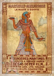 Marseille-Alexandrie La Route D'Egypte - Vintage Poster - Vintagelized