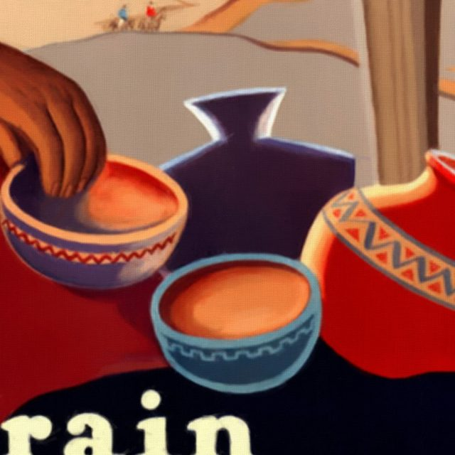 New Mexico and Arizona Rockies - Vintage Poster - Detail