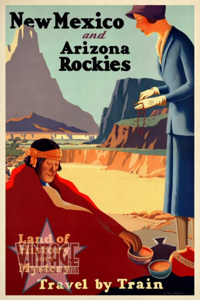New Mexico and Arizona Rockies - Vintage Poster Restored - Vintagelized