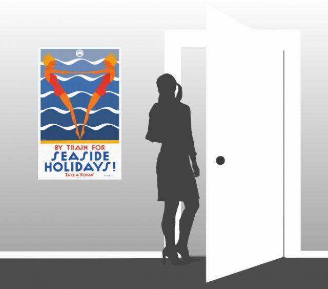 Seaside Holidays Australia - Vintage Poster - Scale