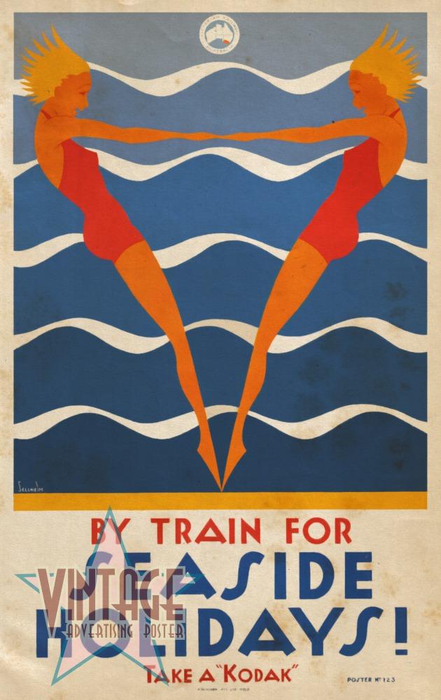 Seaside Holidays Australia - Vintage Poster - Vintagelized