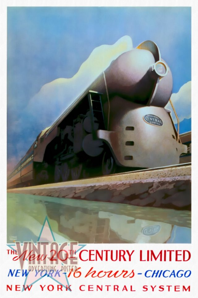 The New 20th Century Limited - Vintage Poster - Restored