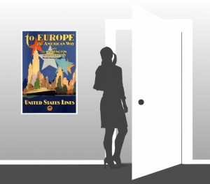 To Europe the American Way - Vintage Poster - Scale