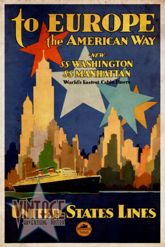 To Europe the American Way - Vintage Poster - Vintagelized