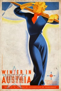 Winter in Austria - Vintage Poster - Vintagelized