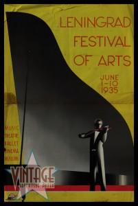 Leningrad Festival of Arts - Vintage Poster - Folded