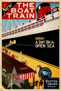 New The Boat Train - Vintage Poster - Vintagelized